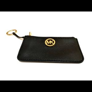 Michael Kors| Key Holder w/ Pouch Pocket| Black